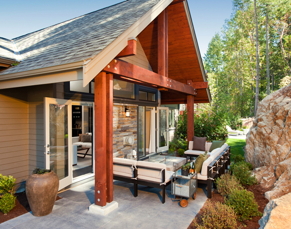 Timber Frame West Coast Contemporary new home